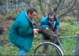 Buche sur le vélo